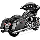"""Vance and Hines Twin Slash Round 4in. Chrome Slip-On Exhaust for Harley Davidso - 4"""""""