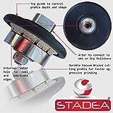 "3/16"" stone granite diamond profile wheel - For Hand Profiler Marble Demi Half Bullnose Radius B5 Edges Grinding by STADEA"
