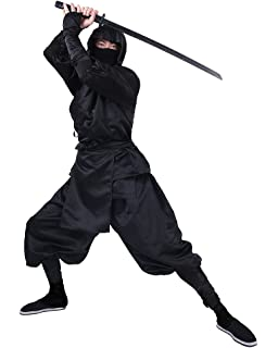 Amazon.com: Cosplay.fm Mens Blue Ninja Costume Outfit ...