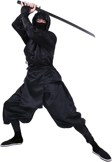 Amazon.com: cosplay. FM hombre negro Ninja disfraz de ...