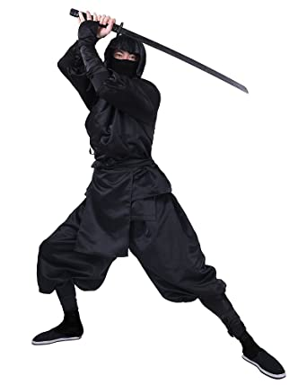 cosplayfm mens black ninja halloween costume