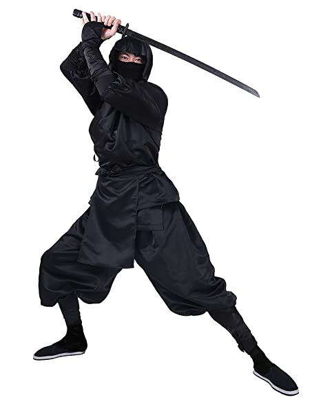 Cosplay.fm Mens Black Ninja Halloween Costume