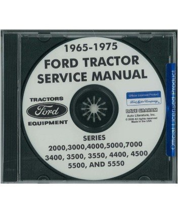 1965 1975 ford tractor 2000 7000 service manual cd home. Black Bedroom Furniture Sets. Home Design Ideas