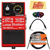 Boss RC-1 Loop Station Bundle with Instrument Cable,...