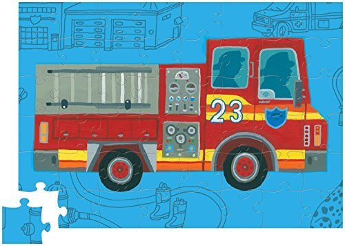 Crocodile Creek 48 pc Roll'n Play Puzzle Fire Fire Fire Truck (May 2014) by Crocodile Creek bd3f01