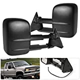 k1500 tow mirrors power - Chevy C/K 1500/2500/3500 Telescope Extendable Power Side View Tow Towing Mirrors Black