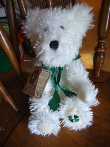 Boyds Bear Plush B. Y. Lotsaluck Irish St Patricks White curly haired 10