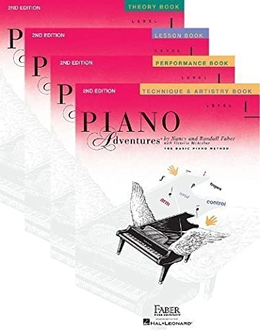 Faber and Faber Piano Adventures Level 1, Learning Library Set - Lesson, Theory, Performance, Technique and Artistry (Faber Accelerated Lesson 1)