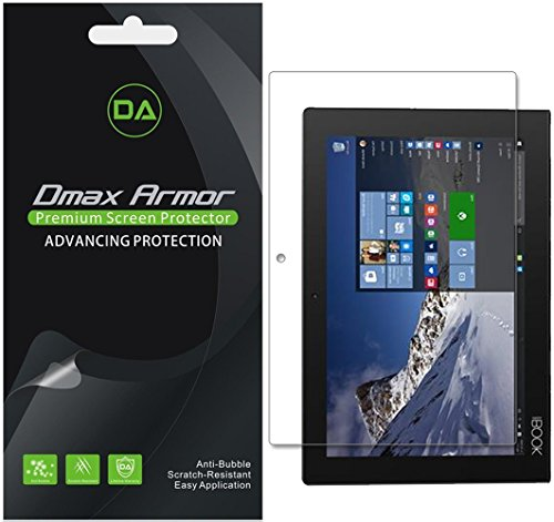 [3-Pack] Dmax Armor for Lenovo Yoga Book 10.1 Anti-Glare & Anti-Fingerprint Screen Protector - Lifetime Replacements Warranty- Retail Packaging
