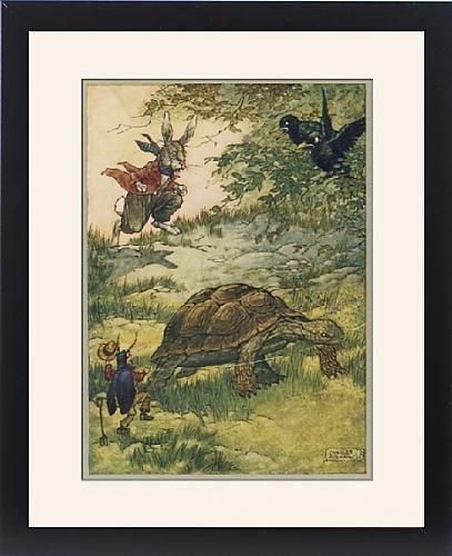 Framed Print Of Tortoise And Hare Fol