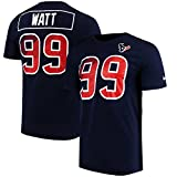 Nike Men's Houston Texans JJ Watt #99 Player Pride Crew Neck T-Shirt Navy Blue/White/Red AR0091-459