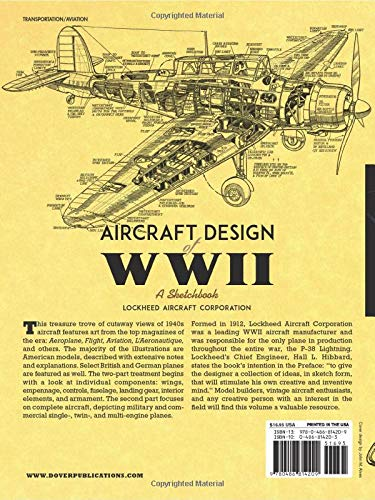 Aircraft Design Of Wwii A Sketchbook Lockheed Aircraft Corporation 9780486814209 Amazon Com Books