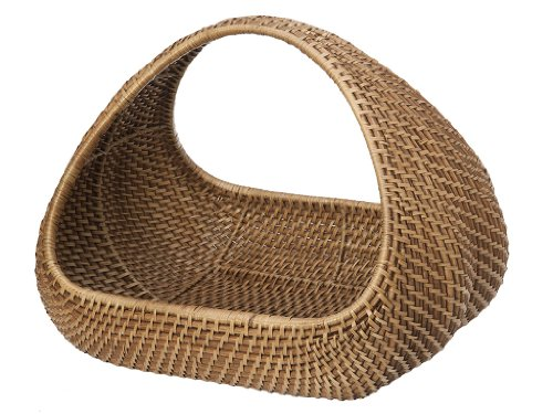 "KOUBOO 1060049 Rattan Decorative Magazine and Multi-Purpose Basket, 17"" x 14"" x 13.5"", Light Brown"