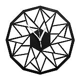 VIXU Reloj Amazonas - Reloj de pared MDF - Decoración Hogar - Geometric clock 30 cm