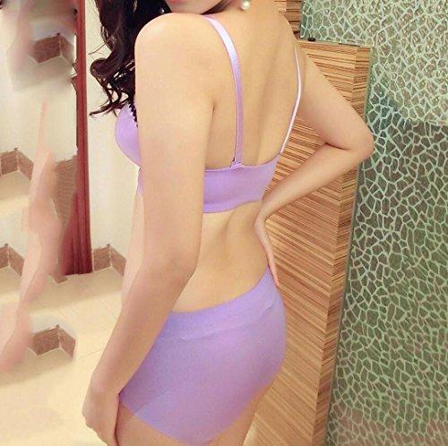 Heart&M Sous-vêtements de femmes sans jantes avant-boutonné convient soutien-gorge recueilli , purple , 75b
