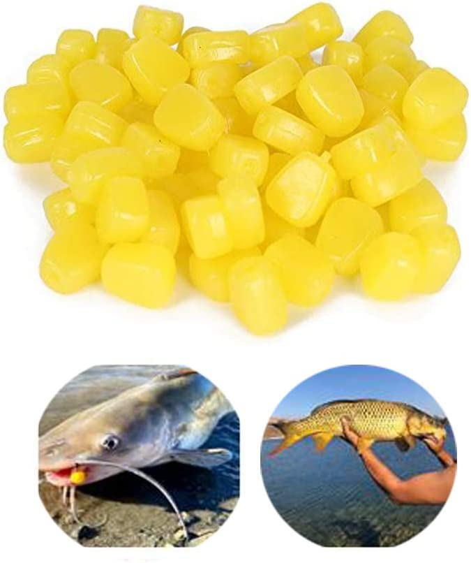 Pop Up Corn Imitation Bait Carp Fishing Tackle Glow In The Dark Floating