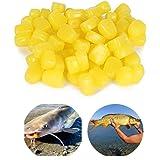 Xhope 30 pcs TPR Simulation Fake Soft Baits Corn Carp Fishing Lures Floating Baits with Nice Scent