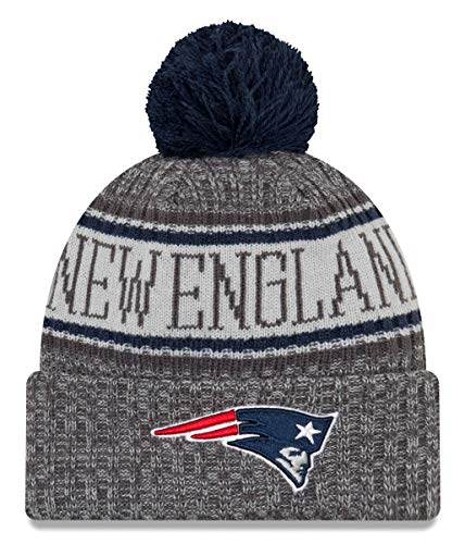 - New Era New England Patriots Gray/Graphite Sport Knit NFL 2018 Beanie Unisex Hat Graphite, OSFM