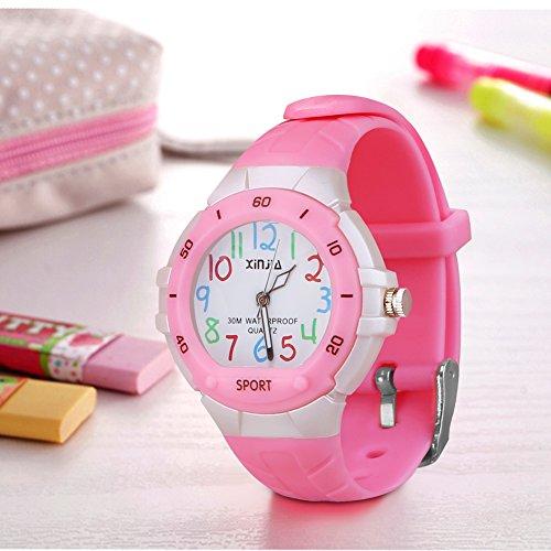 116 Kids Watch 30M Waterproof,Children Cartoon Wristwatch Child Silicone Wrist Watches Gift for Boys Girls Little Child – PerSuper (Pink) by PERSUPER (Image #3)