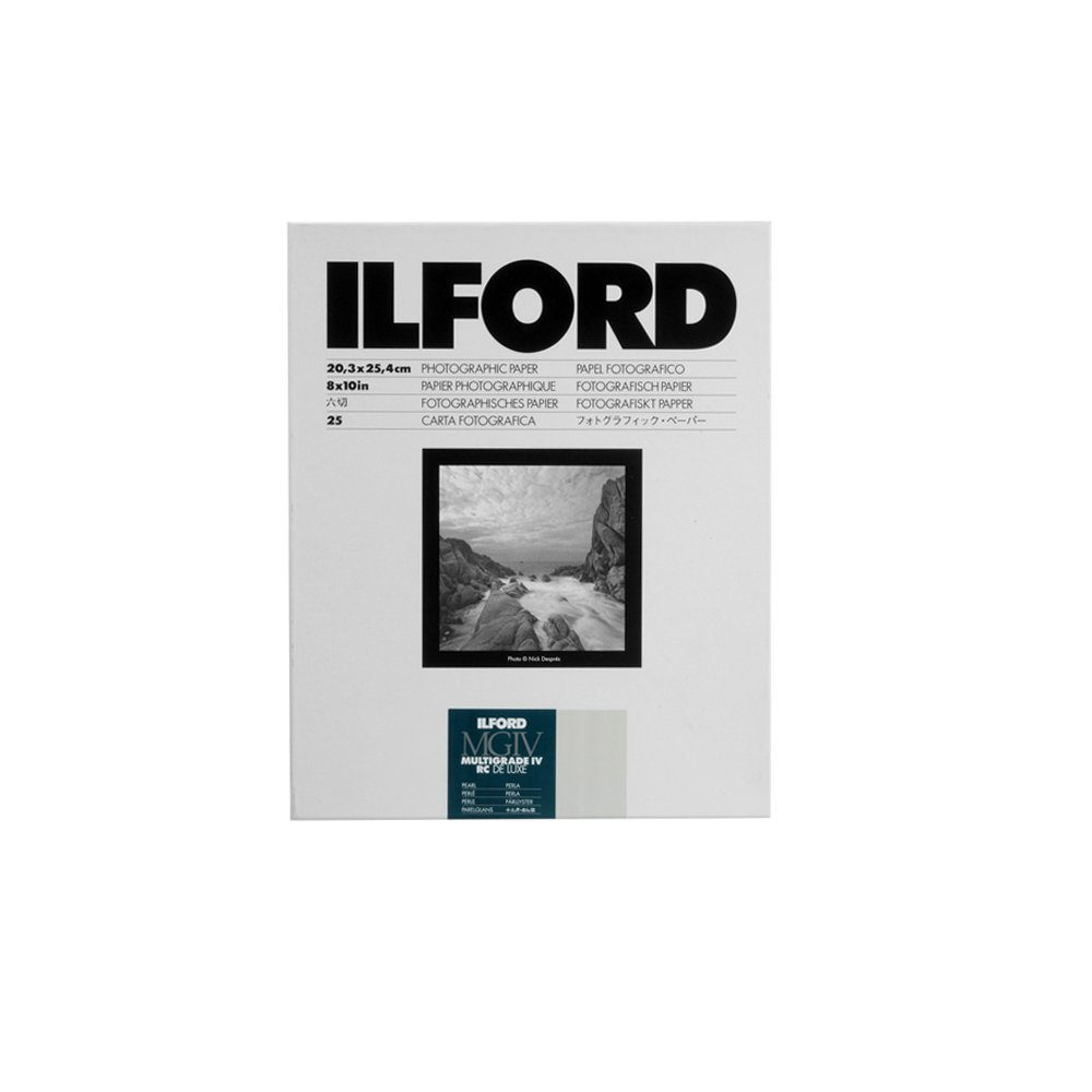 Ilford Multigrade IV RC Deluxe Resin Coated VC Paper, 8x10-Inches, 25-Pack (Pearl) 116 8310