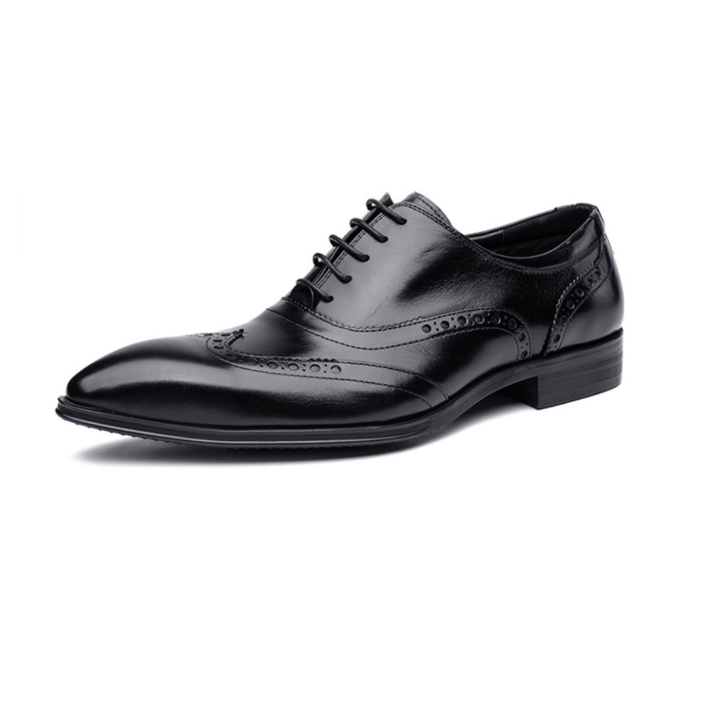 ZPEDY Herren Jugend Business Casual Mode Britischen Hochzeit Spitze Schuhe