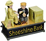 Design Toscano Shoe Shine Collectors' Die Cast Iron Mechanical Coin Bank