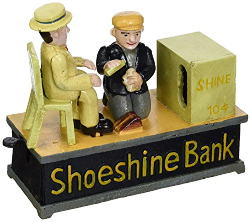 Design Toscano Shoe Shine Collectors Die Cast Iron Mechanical Coin Bank by Design Toscano (Image #3)