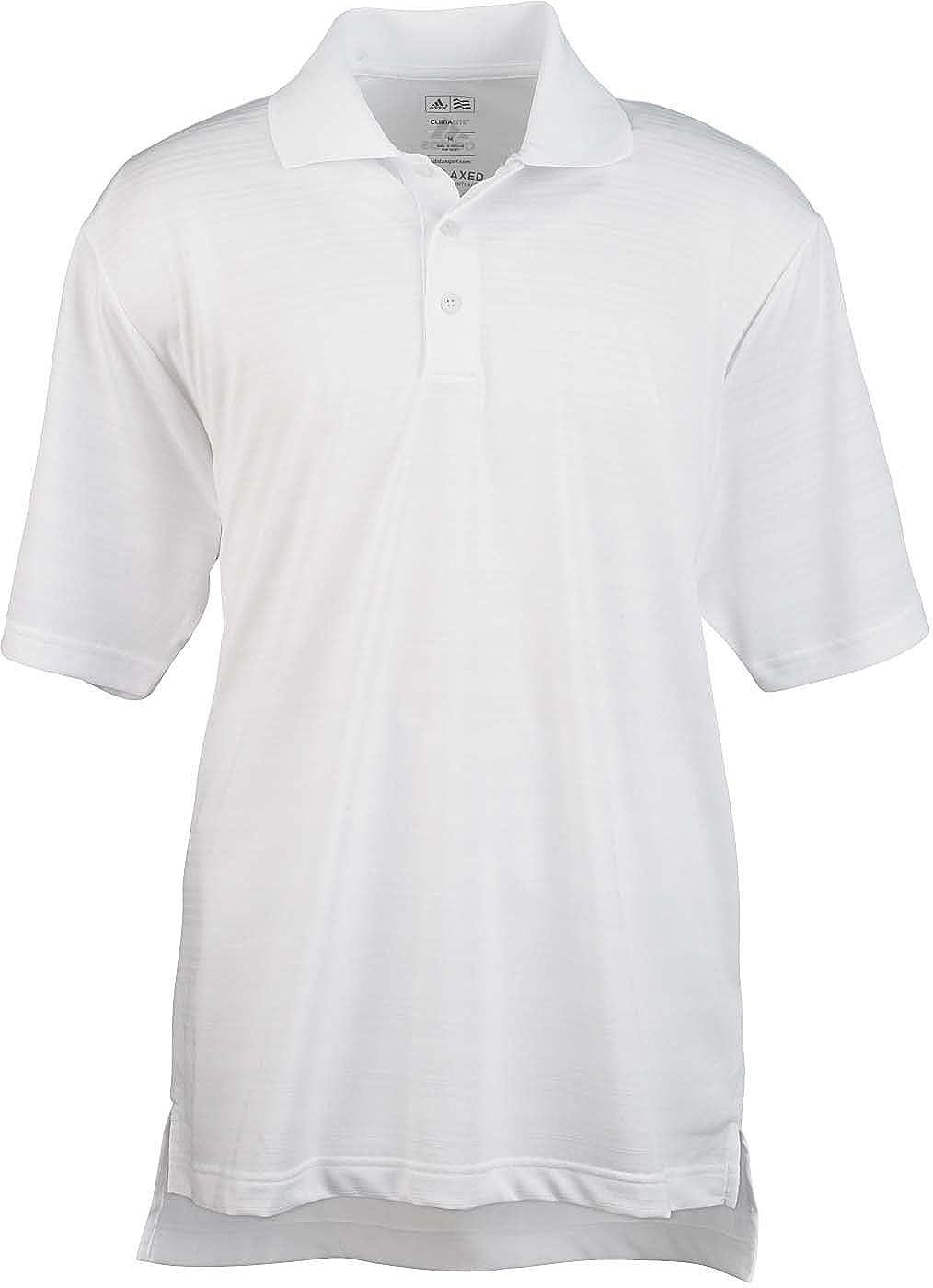 Blanc petit adidas pour Homme Climalite texturé Solide Polo