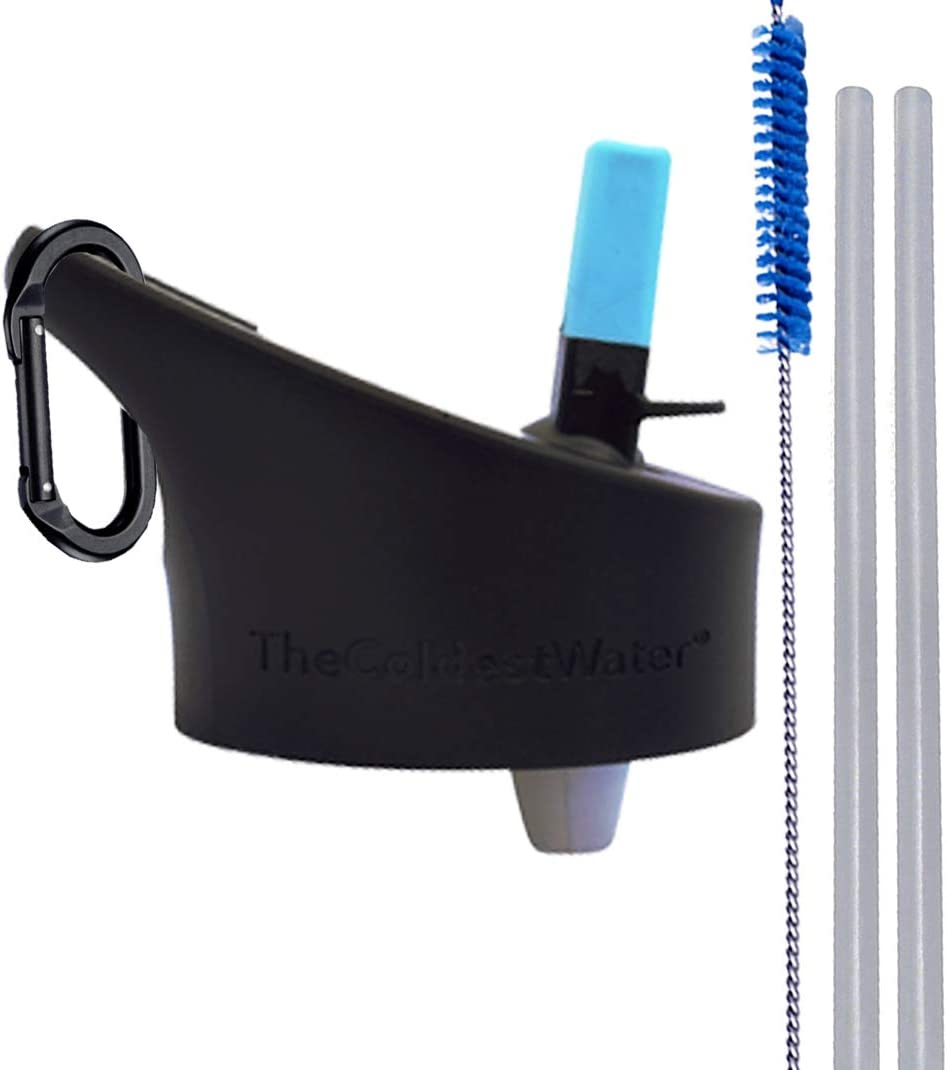 The Coldest Water Standard Size Mouth Hydro Sports Straw Cap Flip Top Lid