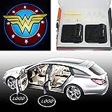 Spoya Wonder Women wireless magnetic car door step LED welcome logo shadow ghost light laser projector light Powered by battery