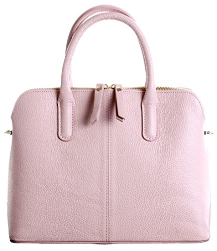 or a Pink Bag Style Includes Handbag Primo Leather Branded Bag Made Bag Grab Sacchi® Italian Shoulder Storage Hand Tote Bowling Baby Textured Protective 0wBBPq7nZa
