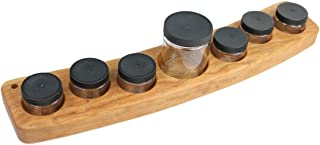product image for Camden Rose Cherry Wood Seven Jar Paint Holder