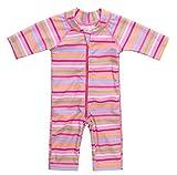 belamo Rash Guard for Toddler Girl Short Sleeve one Piece Swimsuit 12-18 Months