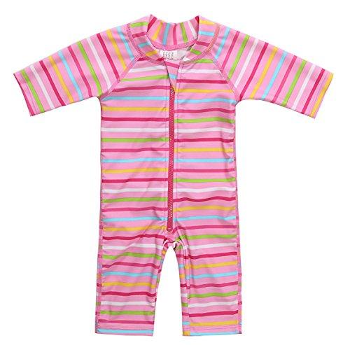 belamo Rash Guard for Toddler Girl Short Sleeve one Piece Swimsuit 12-18 Months by belamo
