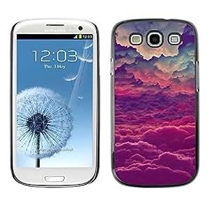 X-ray Impreso colorido protector duro espalda Funda piel de Shell para SAMSUNG Galaxy S3 III / i9300 / i747 - God Purple Inspirational Clouds