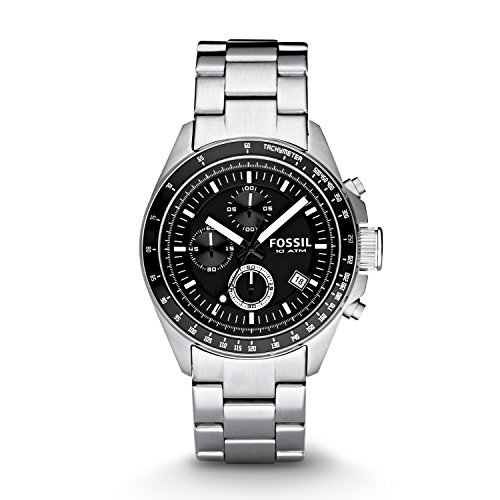 - Fossil Men's CH2600 Decker Black Stainless Steel Chronograph Watch