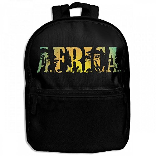 Africa Wildlife And Sunset Childrens School Backpacks Casual Daypack Travel Outdoor For Boys And Girls by Thoreau Holmes