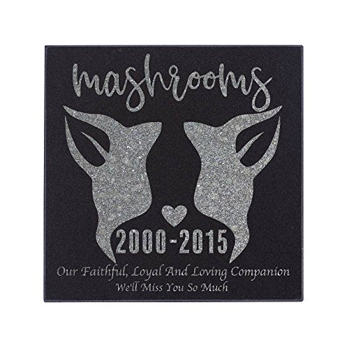 Personalized Pet Memorial Stone Customized Memorial Stone for Loved One's Sympathy Gift - Indoor-Outdoor Headstone Granit Pet Memorial Stone Personalized Dog/Cat Grave Marker 6