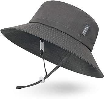 Ami/&Li tots Adjustable Outdoor Sun Hat Water-Proof Bucket Boonie Fishing Cap for Baby Toddler Kids UPF 50