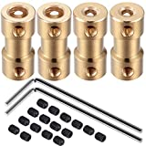 4 Pack 3mm-5mm Flexible Shaft Coupling Connector for RC Boat and Motors