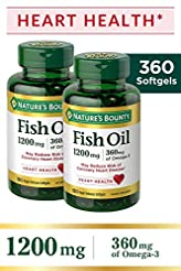 Nature's Bounty Fish Oil 1200 mg Twin Pa...