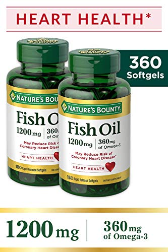 Nature's Bounty Twin Pack Fish Oil, 180 Softgels per bottle (360 Total Count)