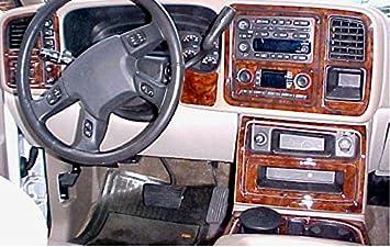 Chevrolet Chevy Avalanche Interior Burl Wood Dash Trim Kit Set 2003 2004 2005 2006