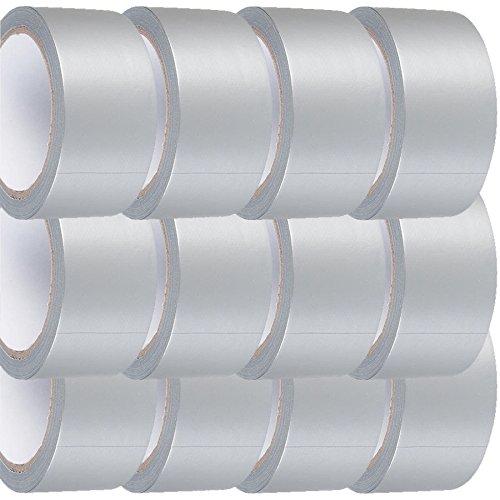 2X TAHA Roll BIG WIDE LONG Silver Gaffer Gaffa Duck Duct Cloth Tape 48mm x 50m HEAVY DUTY TAHA®