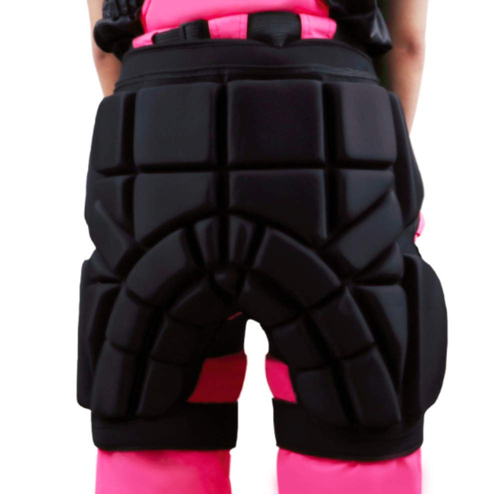 Mitef Child and Adult Outdoor Sports Protective Gear Hip Padded Shorts Anti-Fall Pants for Roller Skating Skate Ski, M
