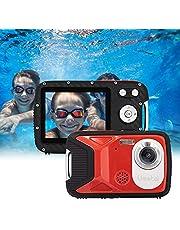 """GDC8026 waterdichte digitale camera / 16 MP / 1080P FHD / 2,8"""" TFT LCD-scherm/onderwatercamera voor kinderen/tieners/studenten/beginners/ouderen (Rood)"""