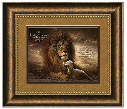 Carpentree 34754 The Lion of Judah Framed Art, 29.5