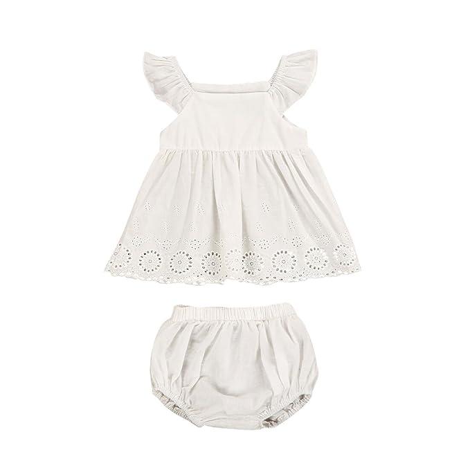 Amazon.com: itfabs bebé recién nacido niña volantes color ...