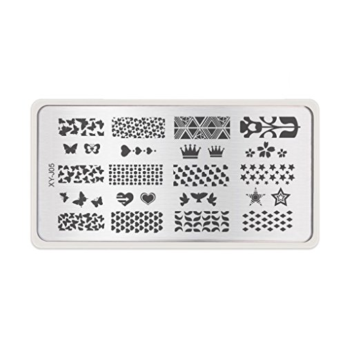 1pc Nail Stencils Nails Art Stamp Templates Plates for Gel Nail Polish Manicure Image Plate NO.5 by M-Egal