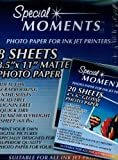Special Moments Photo Paper for Ink Jet Printers (Eight 8.5x11 Sheets & Eight 4x6 Sheets) by Special Moments